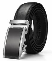 KMBEST Men's Leather Ratchet Dress Belts with Automatic Buckle Gift Box