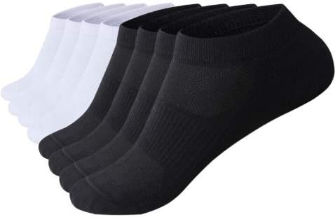 Men Athletic Low Cut Ankle Socks Performance Running Comfort Light Cushion Socks