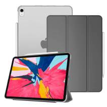 Fintie Case for iPad Pro 11 Inch 1st Generation 2018 [Supports 2nd Gen Pencil Charging Mode] - Lightweight SlimShell Cover with Translucent Frosted Back Protector, Auto Wake/Sleep, Space Gray