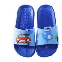 Elcssuy Kids Slide Sandals Lightweight Summer Beach Water Shoes Boys Girls Shower Pool Slippers(Toddler/Little Kids) dinosaur25 Blue