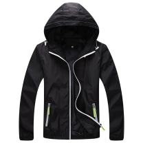 Panegy Unisex Windbreaker Jacket Hoodie Skin Coat Reflective Quick Dry Outdoor