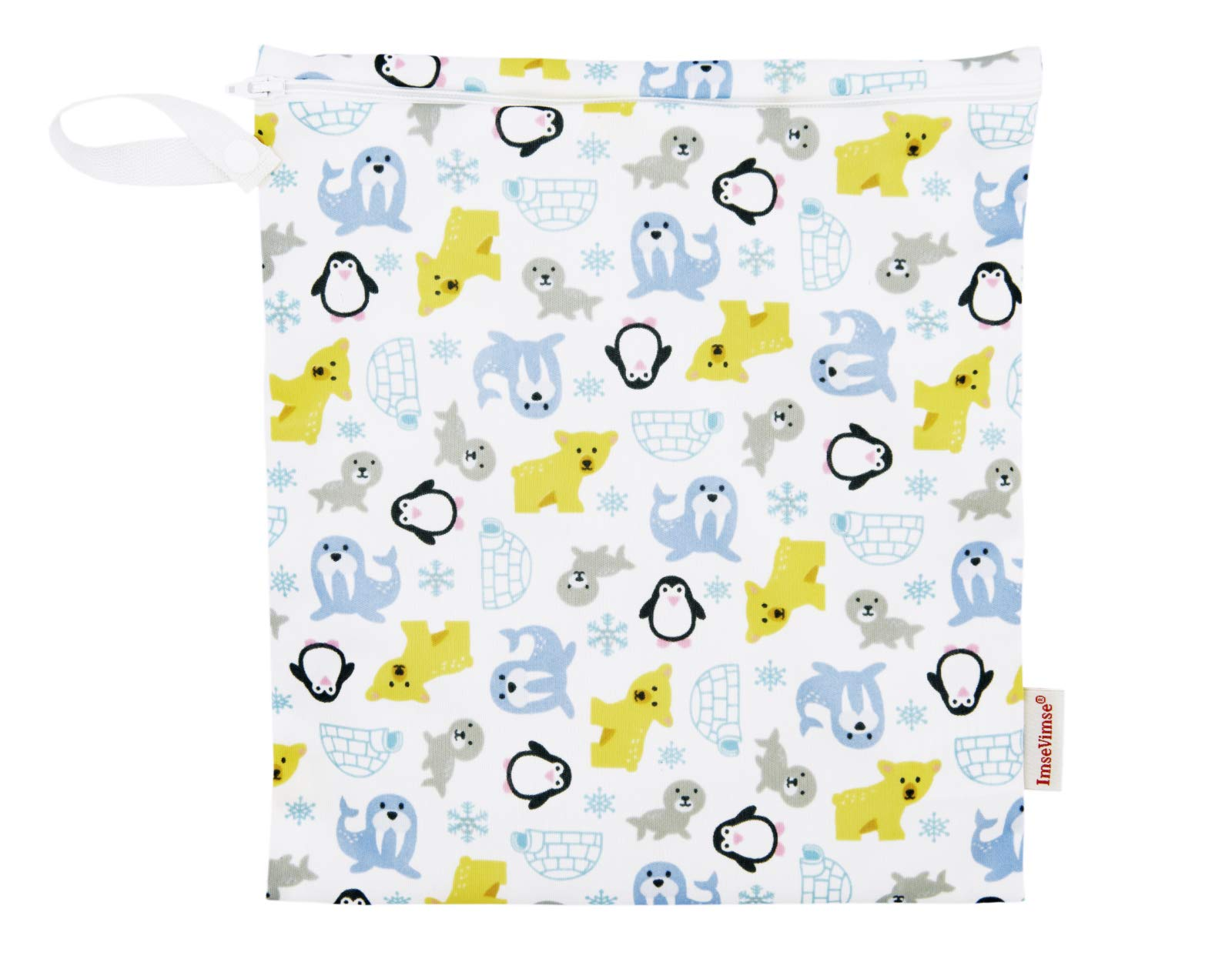 Imse Vimse Reusable Washable Wet Bags for Cloth Diapers (Snowland, Medium 10x11)