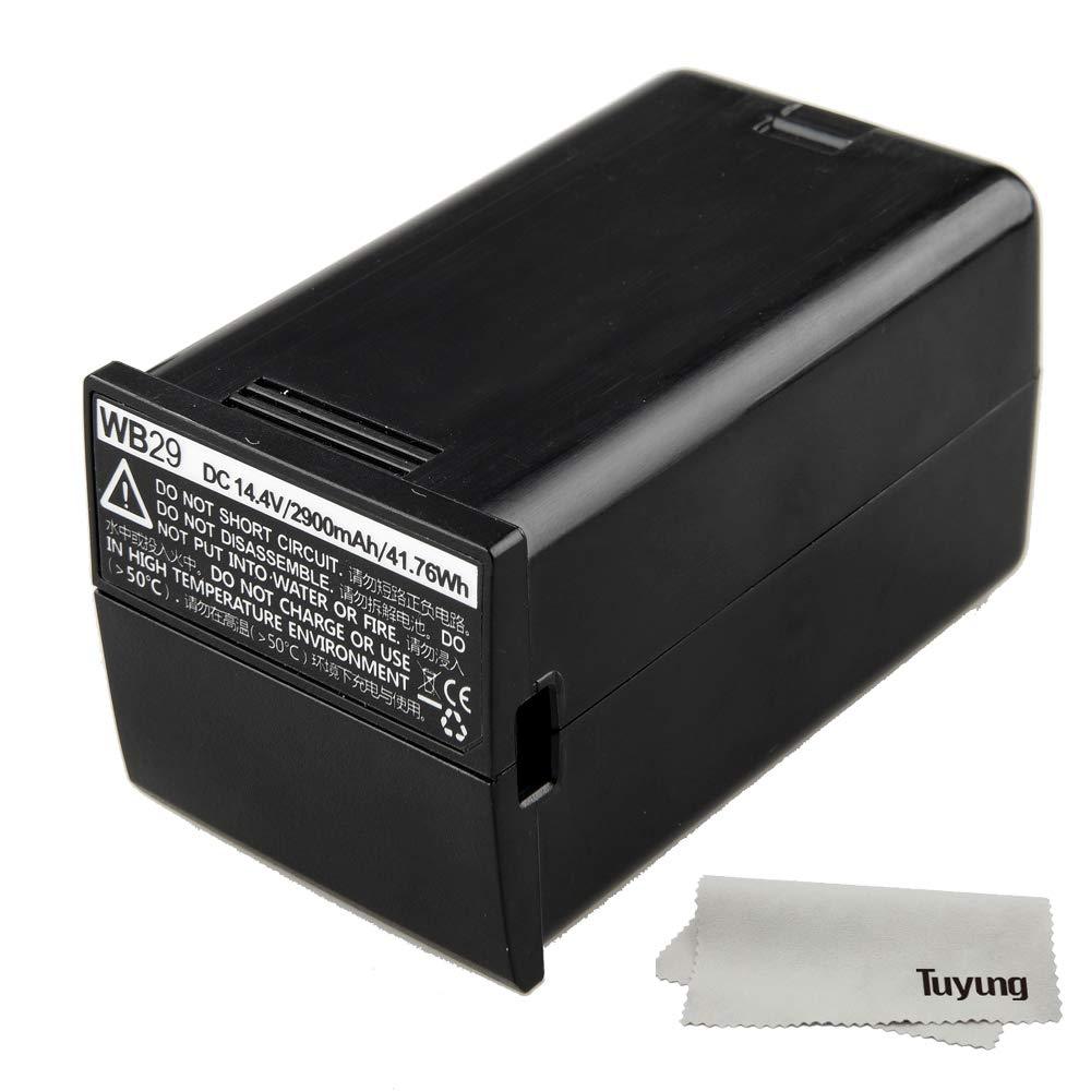 Godox WB29 DC 14.4V 2900mAh 41.76Wh Lithium Battery Power Pack for Godox AD200 Flash and TuYung Cloth