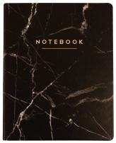 Eccolo World Traveler Desk Size Journal, 256 Lined Page Notebook, 8-x-10-inch, Black Marble