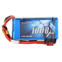 Gens ace 7.4V 1000mAh 2S 25C/50C LiPo Battery Pack with Deans Plug for FPV 180 220 250 Size Helicopter 800mm Warbird RC Plane Heli Airplane FPV