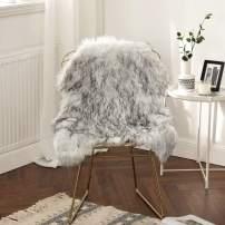 MIULEE Luxury Super Soft Fluffy Area Rug Faux Fur Sheepskin Rug Decorative Plush Shaggy Carpet for Bedside Sofa Floor Nursery 2 x 3 Feet, Gradient Grey