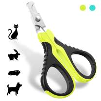 JOFUYU Updated 2020 Version Cat Nail Clippers and Trimmer - Professional Pet Nail Clippers and Claw Trimmer - Best Cat Claw Clippers for Rabbit Puppy Kitten Kitty Guinea Pig Small Dog - Sharp, Safe