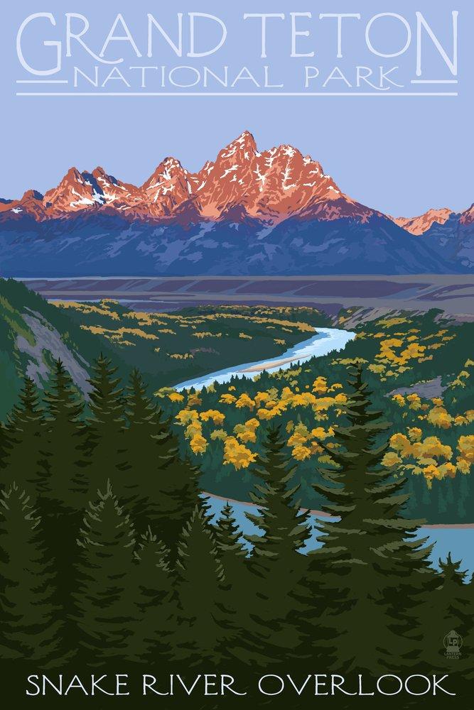 Grand Teton National Park, Wyoming - Snake River Overlook 33918 (16x24 SIGNED Print Master Art Print - Wall Decor Poster)
