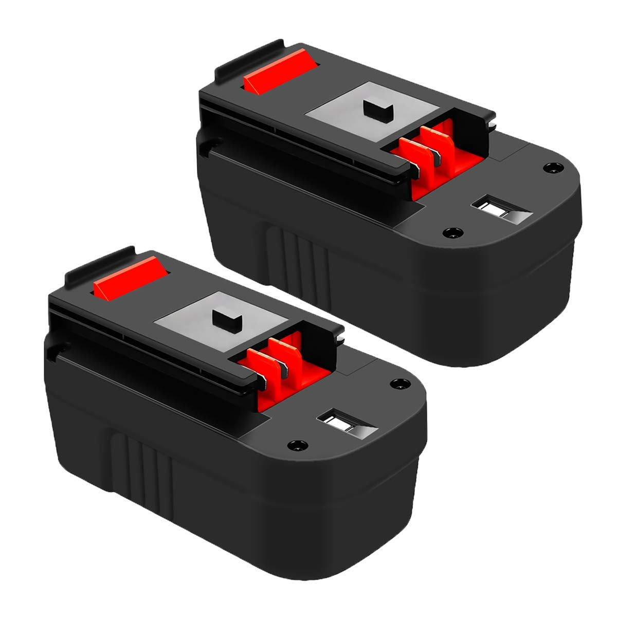 HPB18 Ni-Mh 18V Battery Replace for Black and Decker 18 Volt Battery 3.0Ah Firestorm 244760-00 HPB18-OPE A1718 FS18FL FSB18 Cordless Power Tools (2 Packs)