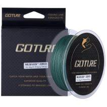 Goture 4-Strand Weave//Braided Fishing Line 8-80LB No Memory Smooth Finish-Improved Colorfastness