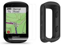 Garmin Edge 830 (2019 Version) Cycle GPS Bundle with Silicone Case & HD Tempered Glass Screen Protectors (x2) | Touchscreen, Navigation, TrainingPeaks, VO2, Incident Detection | Bike Computer (Black)