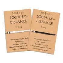 Tarsus Long Distance Matching Bracelets Socially Hug Friendship Bracelet for Best Friends Couples Sister Family