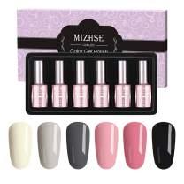 MIZHSE Gel Nail Polish Soak Off UV/Led Gel Nails Gift Set Gel Lacquer 6 Colors Gift Box for Manicure Pedicure Profession Art Nail Salon Nail Design Kit 6PCS 18ML/Bottle