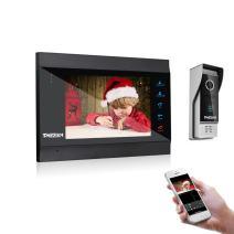 Tmezon Video Intercom System Wireless WIFI IP Video Doorbell Entry System 7 inch Video Door Phone 1200TVL Wired Camera, Support Recording, Instant, Remote Door Release Unlock Door with Phone