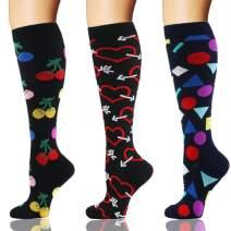 YOLIX Compression Socks Women & Men 1/3/7 Pairs - 20-30mmHg Compression Stockings Best for Running, Nurse, Travel