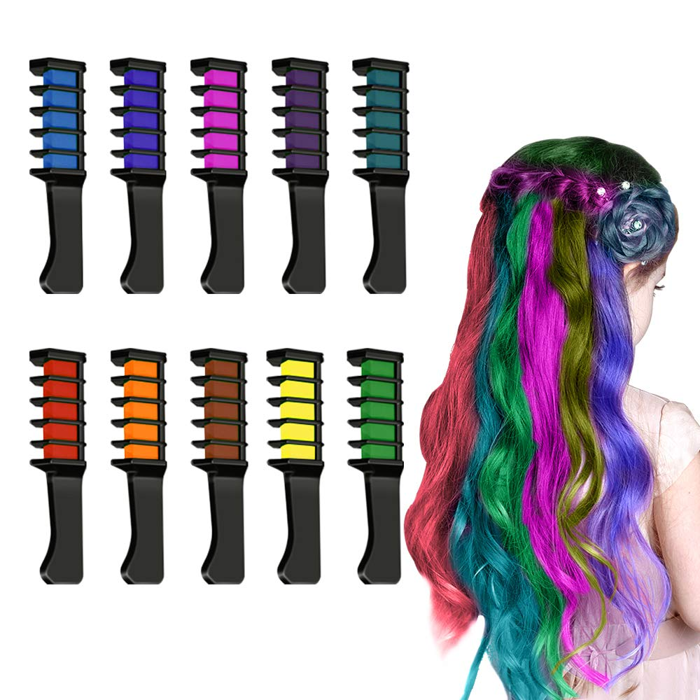 Gifts for 4-13 Year Old Girls, Hair Chalk for Girls Makeup Gifts for Girls 4-13 Year Old Washable Temporary Hair Dye for Age 4-13 Girls Colorful Hairspray for Kids TGUSRF01