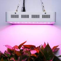 LED Grow Light 600W Adiding Full Spectrum Plants Growing Lamps for Indoor Plants Greenhouse Hydroponic Aquatic Veg Herbs Seedling Flower Growing Dual-Chip with Hanger Rope FCC White