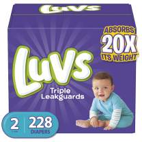 Diapers Size 2, 228 Count - Luvs Ultra Leakguards Disposable Baby Diapers, ONE MONTH SUPPLY