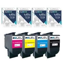 LCL Compatible Toner Cartridge Replacement for Lexmark 71B10K0 71B20K0 71B30K0 71B0010 71B0020 71B0030 71B0040 CS317dn CX317dn CS417dn CS517de CX628de High Yield (4-Pack Black Cyan Magenta Yellow)