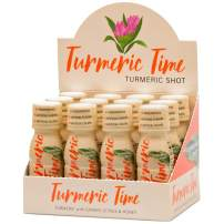 Turmeric Time Turmeric Shots - Turmeric with Ginger, Citrus & Honey | Non-GMO | No Preservatives or Artificial Flavors/Colors/Sweeteners | B Vitamins | Liquid Turmeric (12 Pack)