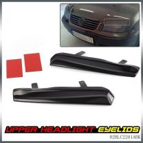 G-PLUS 1 Pair Mean Look Upper Headlight Cover Eyelids Replacement for VW Jetta MK4 1999 2000 2001 2002 2003 2004 2005 Black