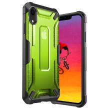 iPhone XR Case Clear Hard PC Cover Heavy Duty Military Grade Shockproof Drop Protection Phone Case Compatible for iPhone XR 6.1 Inch - Green