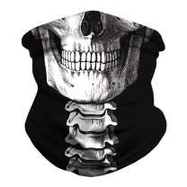 Skull Tie-Dye Face Mask Bandanas Cooling Neck Gaiter Scarf Balaclava Headwear Dust Sun Face Cover for Men Women
