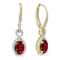 Dazzlingrock Collection 10K Ladies Infinity Dangling Earrings, Yellow Gold