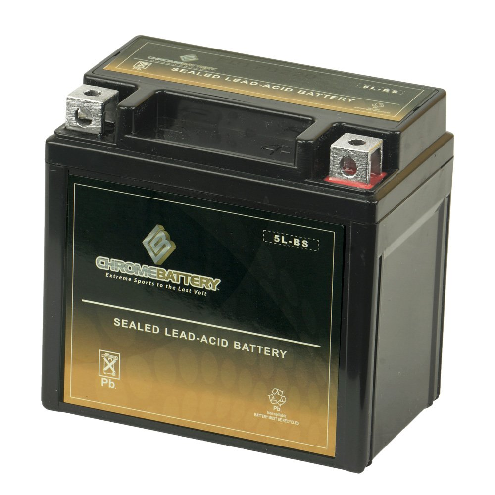 YTX5L-BS High Performance Motorcycle Battery - Maintenance Free - Sealed AGM