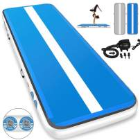 Furgle Air Track 10ft/13ft/16ft/20ft Tumble Track Inflatable Gymnastic Mat, 4/6/8 inches Thickness Tumbling Air Track for Gymnastics/Yoga/Cheerleading Training Airtrack Mat