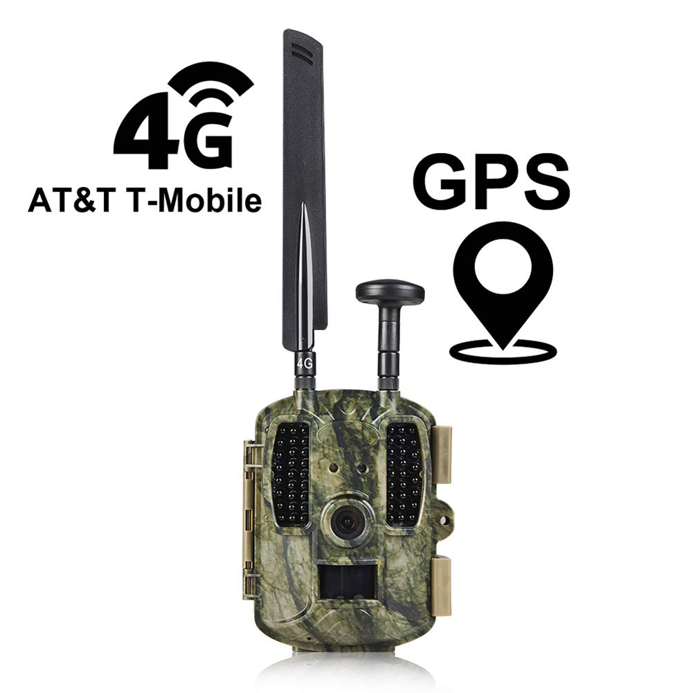 Kuool D40 4G LTE & GPS Trail Hunting Camera Trail cam,Game Camera,Wildlife Camera 12MP 1080P Full HD Hunting Camera, 52 Pcs IR LED 120° Wide Angle, Waterproof Infrared Game Cam 4.0 (4G)