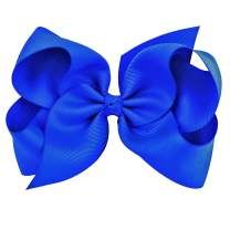 """Hair Accessories - 6"""" Bows For Girls, Large Bows with Alligator Clips - Grosgrain Hair Clips by CoverYourHair"""