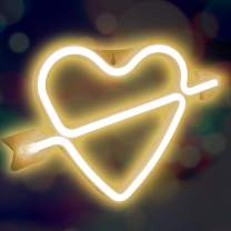 XIYUNTE Cupid Bow Neon Light Sign Led Wall Light Battery or USB Operated White Neon Signs Cupids Bow Light up for Kids Room,Party,Bar,Valentine's Day,Wedding,Christmas