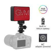 GVM RGB 7S LED Camera Light Full Color Mini Video Light Kit Dimmable 2000K-5600K Bi-Color Panel Light for YouTube Vlog Video Shooting DSLR Camera Camcorder Photo Lighting with Battery Magnet Filter