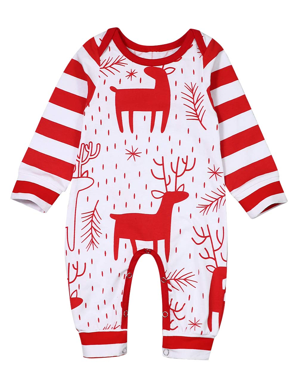 My First Christmas Newborn Baby Boys Girls Clothes Christmas Tree and Deer Romper Jumpsuit with Hat Outfit Set