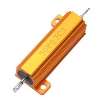 uxcell 50W 0.3 Ohm 5% Aluminum Housing Resistor Screw Tap Chassis Mounted Aluminum Case Wirewound Resistor Load Resistors Gold Tone 1pcs