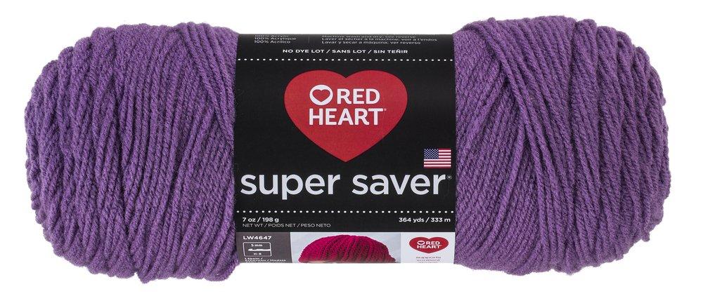 Red Heart E300.0528 Yarn, Solid - Medium Purple