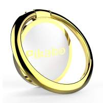 Phone Ring Holder, Pikabo Zinc Alloy 360 Degree Rotation Finger Ring Stand Grip Kickstand for iPhone 11 Pro Max Xs MAX XR X 8 7 6 Plus iPad Samsung Huawei and More. (Gold)