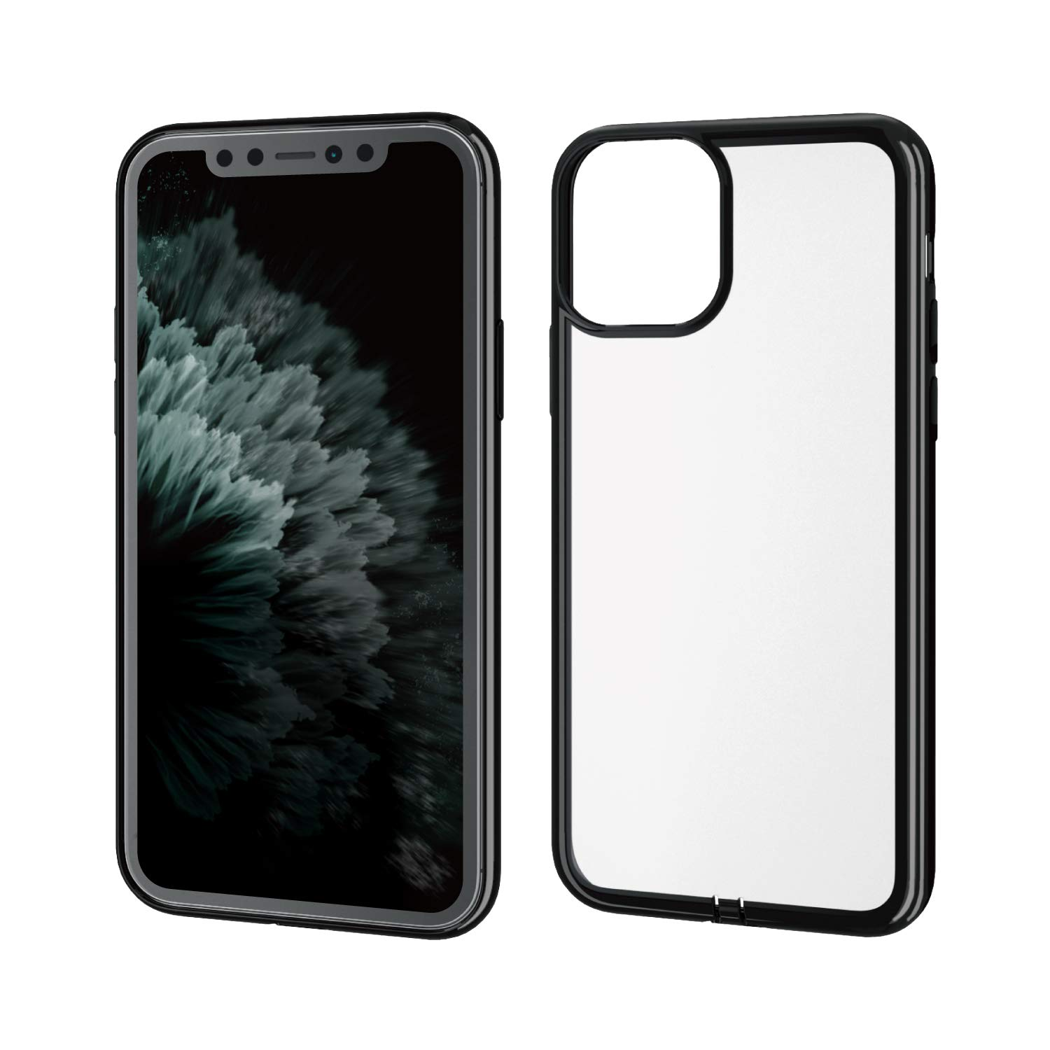ELECOM-Japan Brand-Smartphone 極-Kiwami- Soft TPU Case with Side Plating Type Compatible with iPhone 11 Pro Black PM-A19BUCTMBK