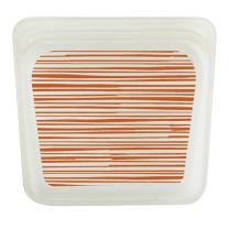 Stasher 100% Silicone Reusable Food Bag, Sandwich Storage Size, 7-inch (15-ounce), Tide Orange