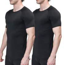 Sieayd Men's Cool Dry Compression Shirts Short Sleeve Workout Base Layer