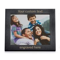 """Lifetime Creations Create Your Own Personalized Picture Frame - Black (8"""" x 10"""" Landscape), Custom Engraved Design Your Own Frame"""