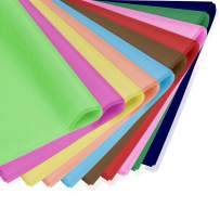 """100 Sheets Rainbow Tissue Paper Bulk,Gift Wrapping Paper Crafts,10 Color-Mixed Art Tissue Paper, 19.6""""x 29.5"""" for DIY Crafts Decorative Tissue Paper Flower Pom Pom Art Craft Floral Party Festival"""