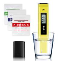 Arozk Digital PH Meter, Water Quality PH Tester Kit, 0.01High Accuracy Pocket Size Meter with PH 0-14.0 Measurement Range and Automatic Temperature Compensation, PH Tester Pen for Household Drinking W