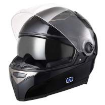 AHR Run-F DOT Motorcycle Full Face Helmet Dual Visors Sun Shield Street Bike Motorbike Touring ABS Helmet