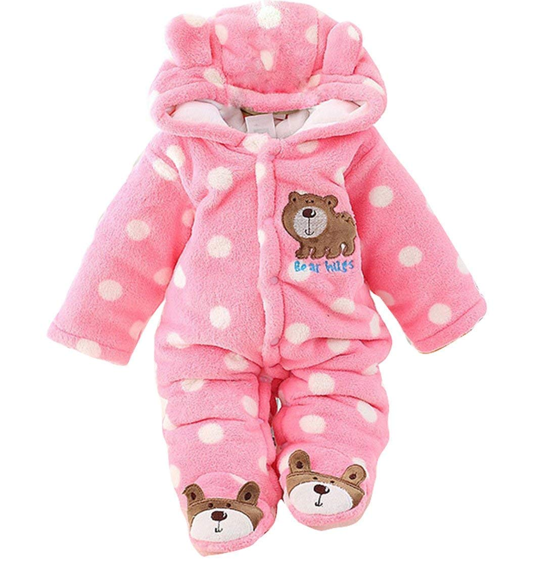 Jojobaby Newborn Baby Jumpsuit Outfit Hoody Coat Winter Infant Rompers Toddler Clothing Bodysuit