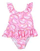 Happy Cherry Baby Girls One Piece Swimwear Gymnastics Leotard Beach Swimsuit