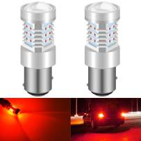 KATUR 1157 BAY15D 7528 1016 LED Bulbs High Power 2835 21 Chipsets Super Bright with Projector Replacement for Tail Lights Brake Lights Turn Signal Lights,Brilliant Red (Pack of 2)