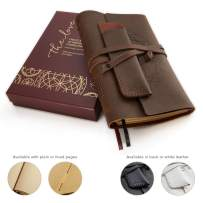 """Leather Journals for Women and Men + Pen Holder 