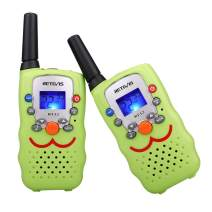 Retevis RT32 Kids Walkie Talkies 22CH Call Alarm 2 Way Radio Kid Toy with LCD Flashlight,Gifts Toys for Boys and Girls to Camping, Hiking(Green, 2 Pack)
